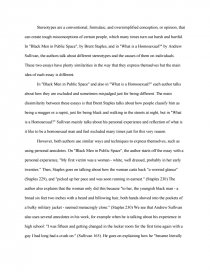 Compare and contrast essay stereotypes research paper