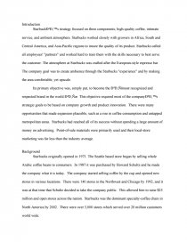 starbucks case study research paper zoom