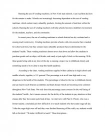 An essay on organic vending machines how to write free verse poem