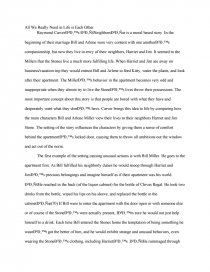 critical essays on raymond carver