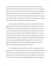 Thesis Statement For Persuasive Essay Zoom Zoom Zoom Zoom Zoom  Thesis Statement For Education Essay also Healthy Food Essay What Are The Strengths And Weaknesses Of The Truman Show  College  English Essay Short Story