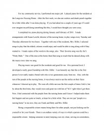 Example Of Essay Writing In English  English Reflective Essay Example also Example Of A Thesis Statement For An Essay Community Service Reflection Paper  Essays Research Essay Papers