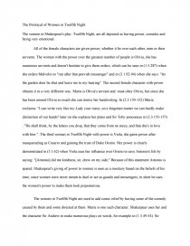 portrayal of women in twelfth night research paper zoom zoom zoom