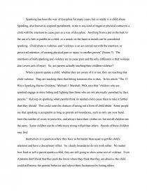 Free essay on spanking children abby brooks homework