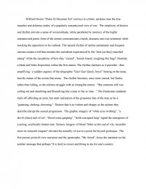 Thesis Essay Examples Essay Preview Dulce Et Decorum Est Analysis Essay Examples For High School Students also Essay Papers Examples Dulce Et Decorum Est Analysis  Research Paper Theme For English B Essay