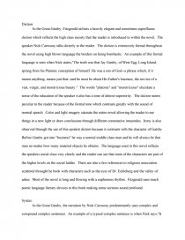 the great gatsby critique