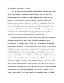 My last duchess essay esl cv writing websites for university