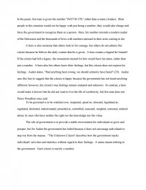 The Unknown Citizen  College Essays Essay Preview The Unknown Citizen Zoom Zoom Zoom