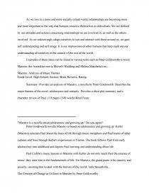 maestro peter goldsworthy essays