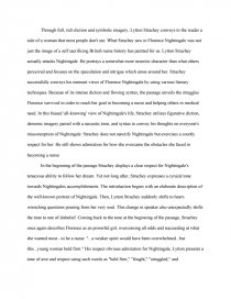 lytton stracheys view of florence nightingale college essays zoom zoom