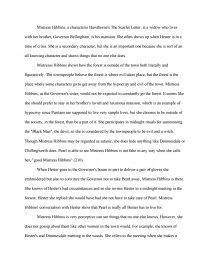 mistress hibbins essay