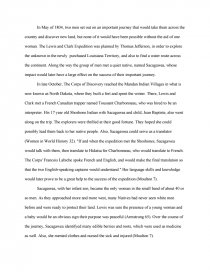 sacagawea biography essay