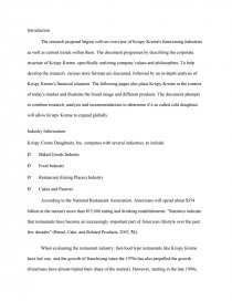 krispy kreme doughnuts inc. 2015 case study