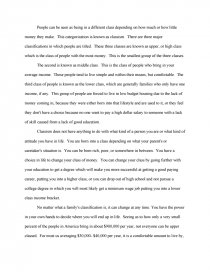 An Essay On Newspaper Essay Preview Classism Essays On Different Topics In English also Essays About High School Classism  Research Paper Purpose Of Thesis Statement In An Essay