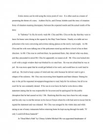 dead mens path essay
