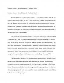 The magic barrel literary analysis sat essay conscience