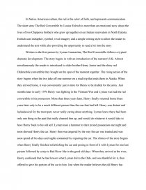 The Red Convertible  Essays Essay Preview The Red Convertible
