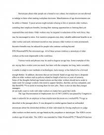 age discrimination research paper