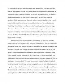love in king lear essay