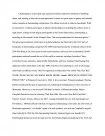 Cheerleading - College Essays
