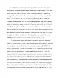 essay on school shooting