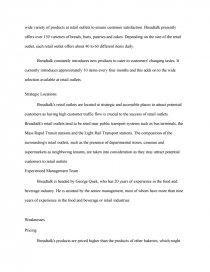 breadtalk swot analysis essay