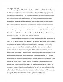 catcher in the rye essays zoom