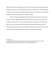 Science And Religion Essay Essay Preview Courage In Black Like Me And Romeo And Juliet Zoom Zoom  Zoom Essay On Paper also Conscience Essay Courage In Black Like Me And Romeo And Juliet  Term Papers What Is The Thesis Of An Essay