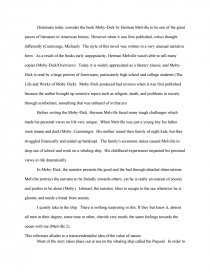 Essay On English Literature Zoom  English Reflective Essay Example also How To Write A Thesis Sentence For An Essay Moby Dick And Transcendentalism  Essays Thesis Statements For Argumentative Essays