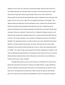 odysseus vs gilgamesh research paper zoom zoom