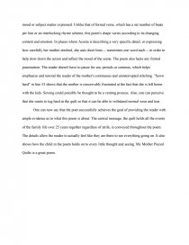 My Mother Pieced Quilts - Research Paper : my mother pieced quilts poem - Adamdwight.com