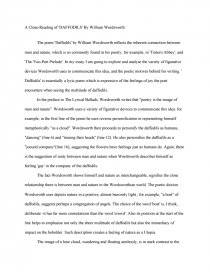 a close reading of daffodils by william wordsworth college essays zoom