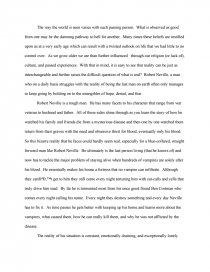analysis of i am legend essays zoom zoom zoom