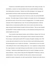 Proposal For An Essay  Health Education Essay also Computer Science Essays Domestic Vs International Travel  Term Papers What Is A Thesis Statement In An Essay