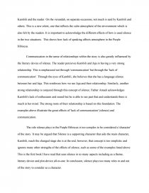 Purple Hibiscus  Role Of Silence  Term Papers Essay Preview Purple Hibiscus  Role Of Silence Zoom Zoom