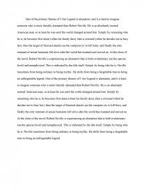 i am legend thesis similar essays