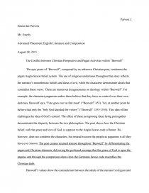 beowulf essay topics