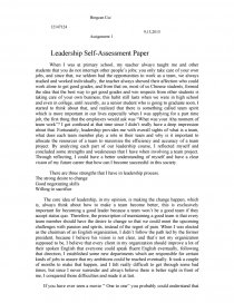 leadership self assessment paper essay zoom