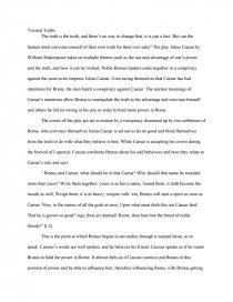 twisted truths julius caesar essay zoom zoom zoom