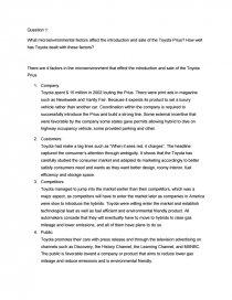 toyota introduction essay