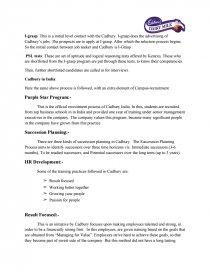 recruitment process of cadbury company