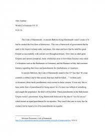 Essay about code of hammurabi custom university essay ghostwriters services for college
