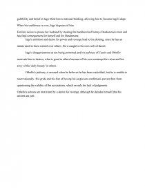 othello essay 400-450 words