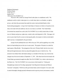 Patriot act research paper making a new business plan