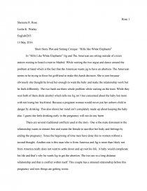 Short Story Plot And Setting Critique Of Hills Like White Elephants  Zoom