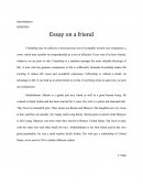 Essay on a Friend - Personal Essay