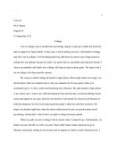 English 049 Essay - Attending a College