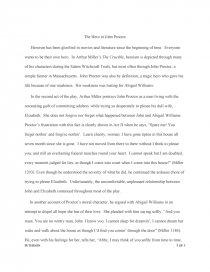 the hero in john proctor   essay essay preview the hero in john proctor