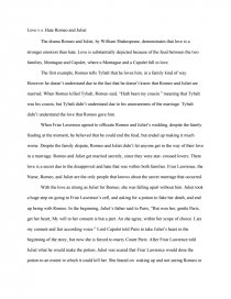 love v s hate romeo and juliet essay zoom zoom