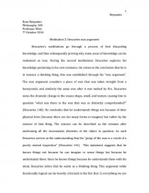 meditation descartes wax argument essay zoom